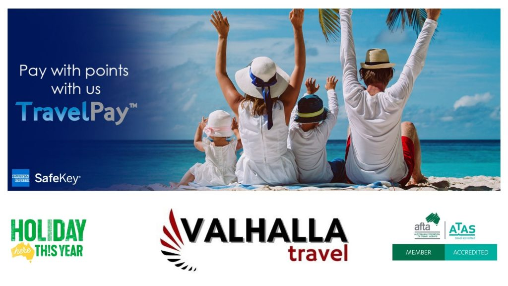 Image to show paying with AMEX points with Valhalla Travel and TravelPay